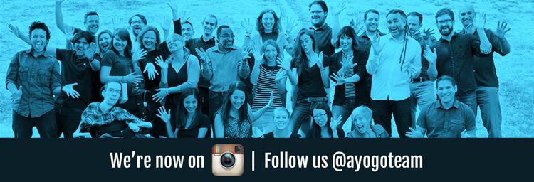 Follow ayogo on instagram @ayogoteam