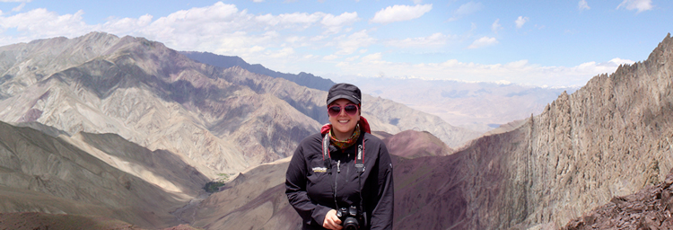 Maddy in the Himalayas - now designing in the healthcare industry