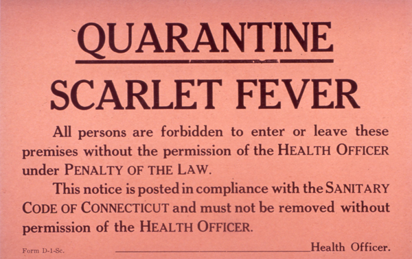 quarantine notice early 1900s - Medication Noncompliance
