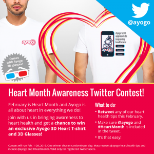Heart Month Twitter Contest raises awareness for heart disease