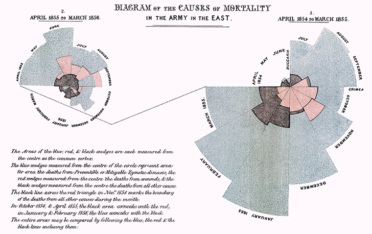 Nightingale Diagram of the Causes of Mortality