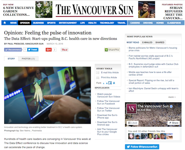 BC Healthcare innovation - Vancouver Sun