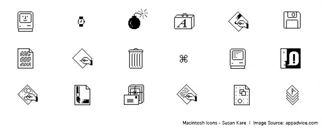 Mac Icons by Susan Kare