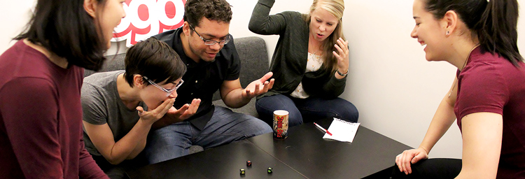 Working At Ayogo Is All Fun and Games - playing zombie dice